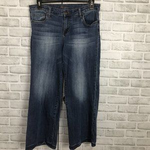 Kut From The Kloth High Rise Wide Leg Crop Jeans
